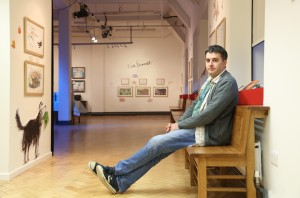 25/03/2015: Writer Daniel Hahn photographed at the Story Museum in Oxford. Picture: COPYRIGHT John Lawrence 07850 429934